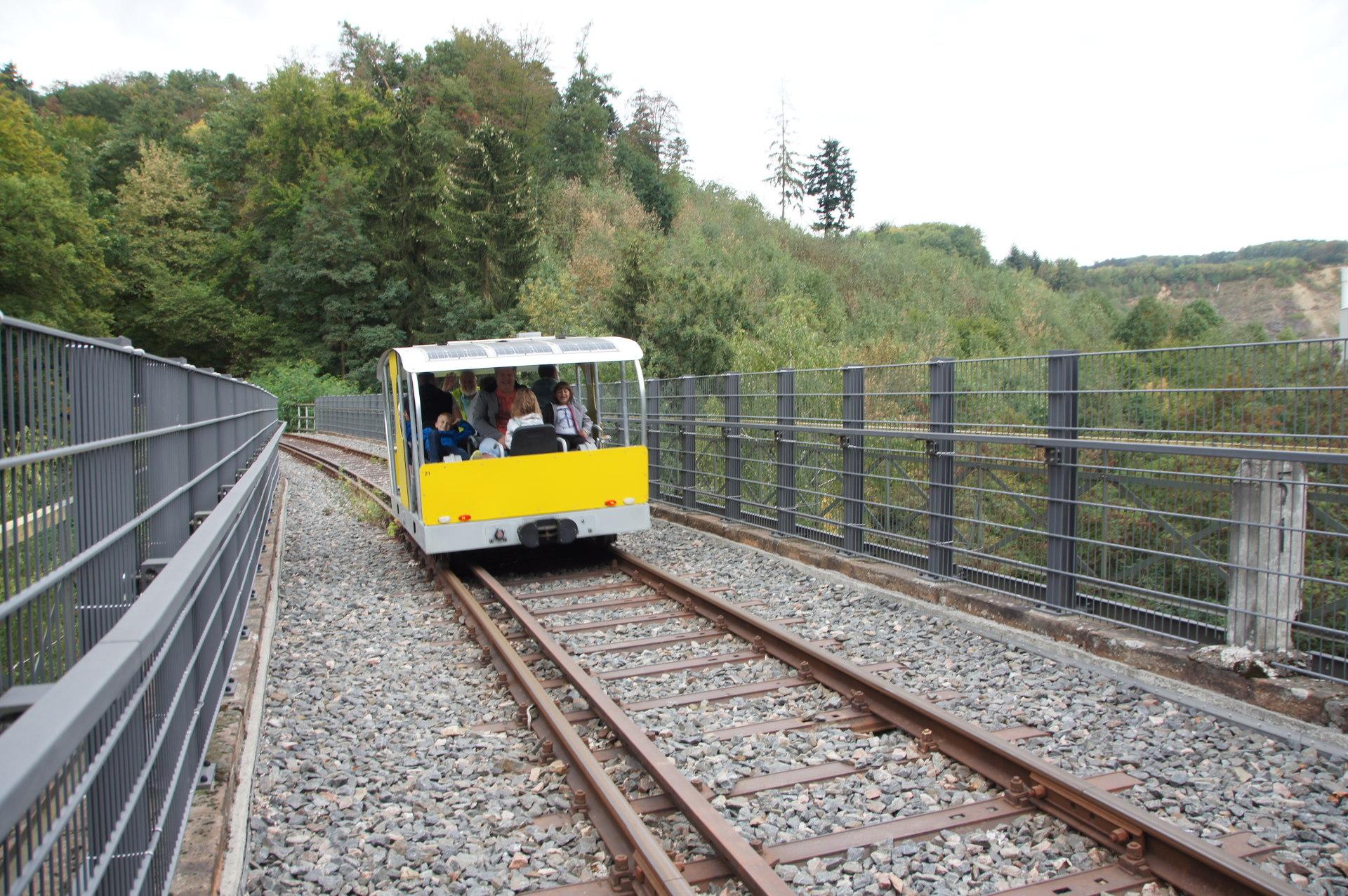 draisine fahren übers viadukt