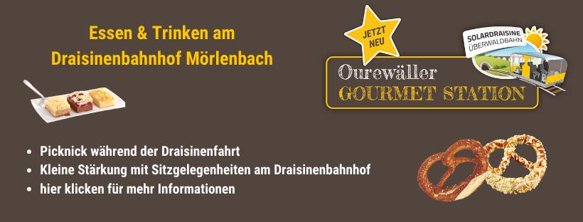 Essen und Trinken am Draisinenbahnhof Mörlenbach